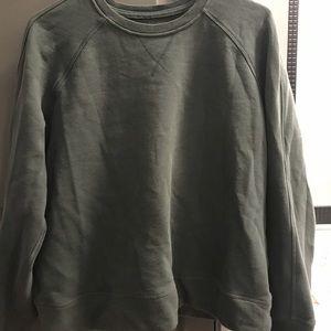 Lululemon Green crop sweatshirt